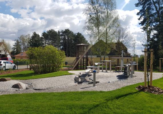 Der als Wasserspielplatz neu gestaltete Spielplatz in der Schillerpromenade. Foto: John