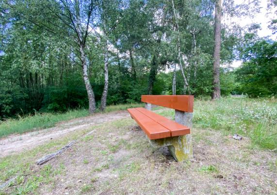 Sitzbank an den Rotpfuhlen