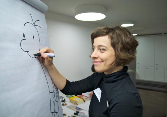 Zeichenlehrerin Charlotte Hofmann