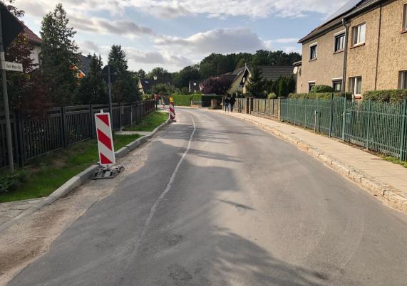 Die Karl-Marx-Straße in Borgsdorf wird saniert.