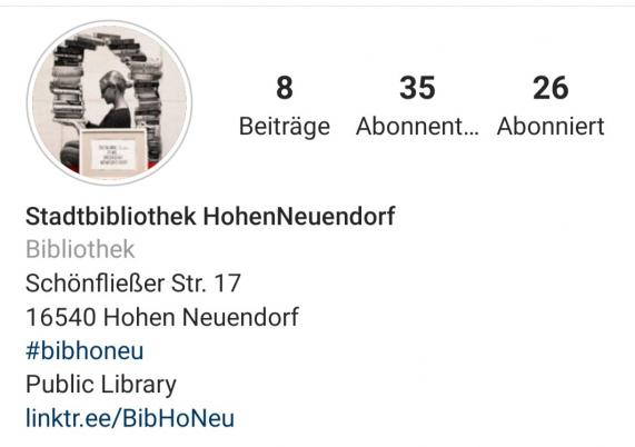 Instagram Kanal der Bibliotheken