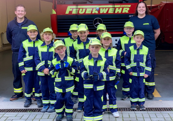 Kinderfeuerwehr in Bergfelde